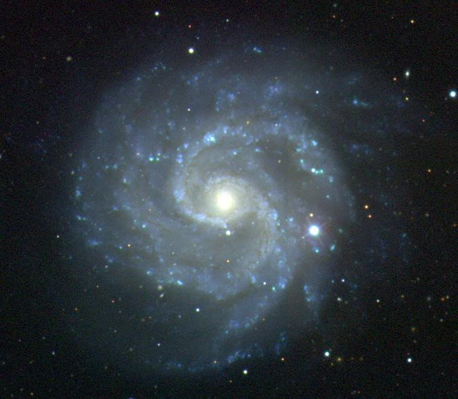 Photo of a spiral galaxy